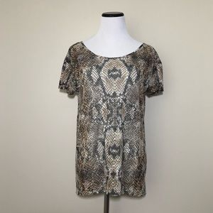 The Kooples Snakeskin Printed Top